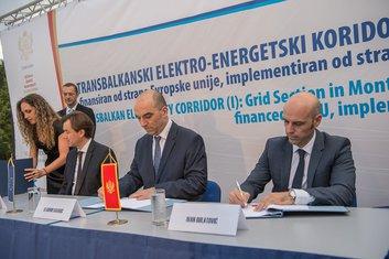Finansijski ugovor za izgradnju Transbalkanskog elektro-energetskog koridora-sekcija Crna Gora