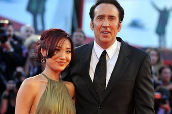Nikolas Kendž sa suprugom