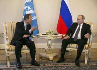Ban Ki Mun i Vladimir Putin