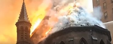 Požar, crkva Svetog Save, Njujork