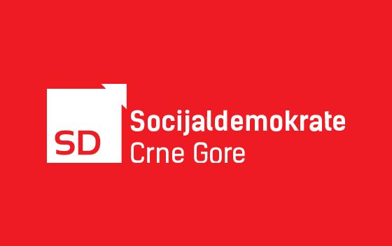 Socijaldemokrate Crne Gore logo, SD logo