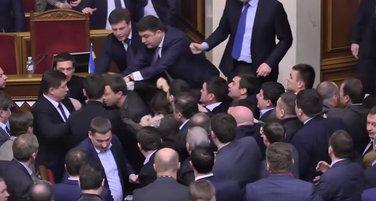 Ukrajina, skupština, tuča