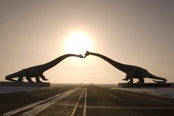 dinosaurusi, Kina, statue sinosaurusa