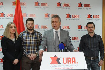 Žarko Rakčević, Građanski pokret URA
