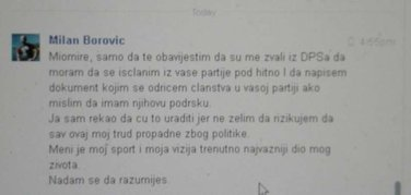 Milan Borović Fejsbuk prepiska