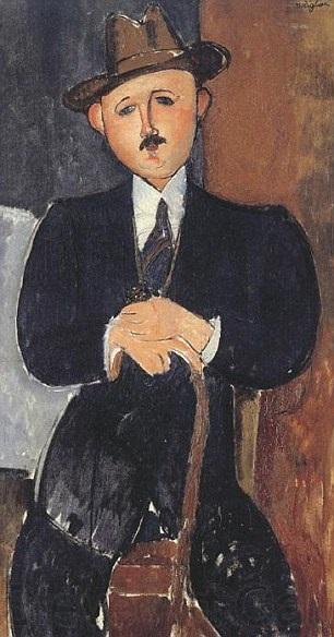 Muškarac koji sjedi sa štapom Amadeo Modiljani