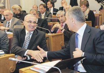 MIlo Đukanović i Tarzan Milošević