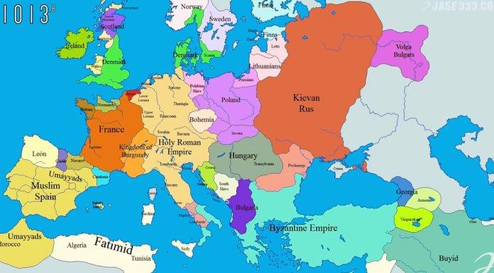 Pogledajte Kako Se Evropa Mijenjala Tokom Posljednjih 1 000 Godina