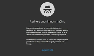 Anonimni način rada, internet, privatnost