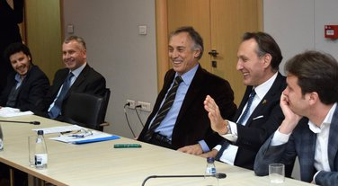 Sastanak opozicije, Miodrag Lekić, Ranko Krivokapić, Žarko Rakčević Dritan Abazović