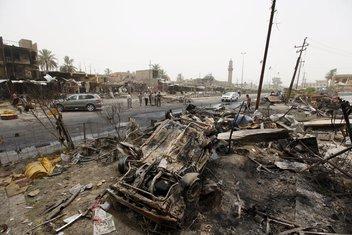 Bobaški napad, Irak