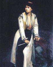 Vlaho Bukovac, Crnogorka na obrani 1878. (Novine)