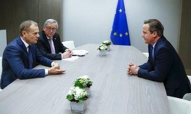 Donald Tusk, Žan Klod Junker, Dejvid Kameron