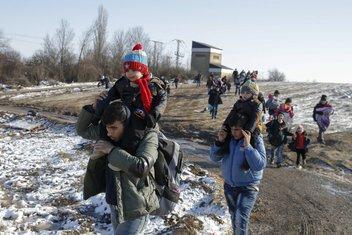 migranti, Makedonija