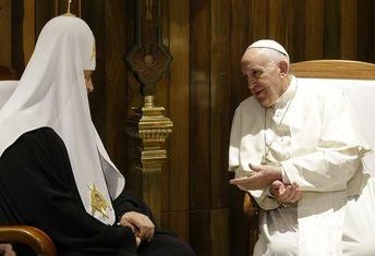 Patrijarh Kiril, papa Franjo