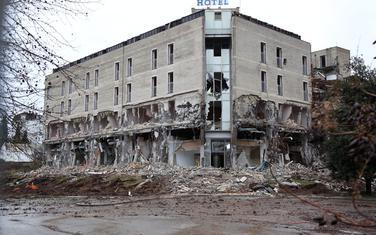 """Rušenje hotela """"Siti"""""""