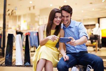 ljubavni par, mobilni telefon