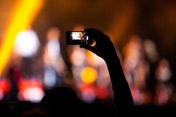 kamera, mobilni telefon, pametni telefon, koncert, snimanje