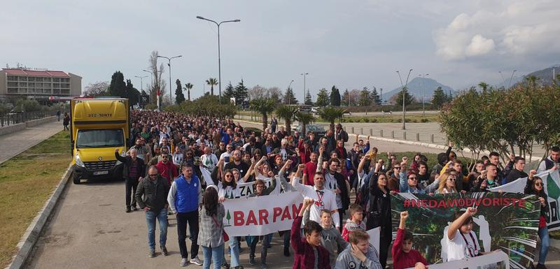 Sa posljednjeg protesta u Baru
