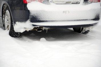 auto, zima, snijeg