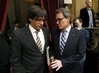 Karles Pudžemon i Artur Mas
