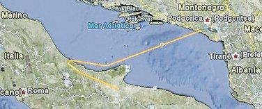 Trasa kojom je predviđen podvodni kabal