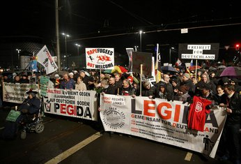 protest protiv izbjeglica Lajpcig