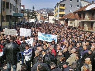 protest radnika na sjeveru