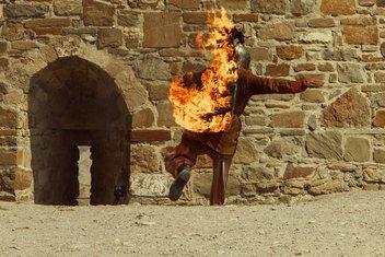 Zapaljen čovjek, Čovjek gori
