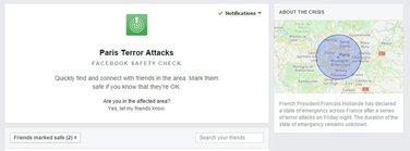 Facebook Safety Check Paris
