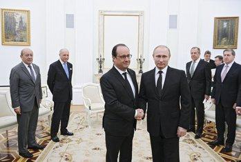 Fransoa Oland, Vladimir Putin
