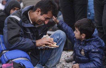 Izbjeglička kriza otac i sin