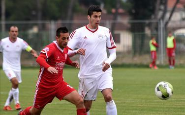 Strijelac trećeg gola: Goran Vujović (lijevo)