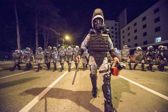 Protestt DF, policija