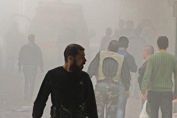 Sirija, Alepo, bombardovanje
