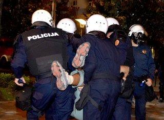 povrijeđeni demonstrant, protesti DF