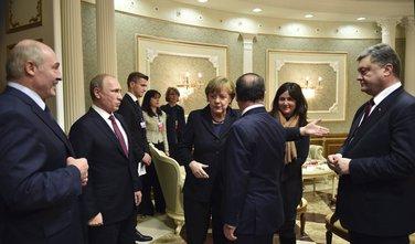 Petro Porošenko, Vladimir Putin, Angela Merkel i Fransoa Oland
