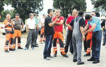 Crnagoraput radnici protest