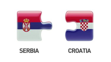 Srbija, Hrvatska, zastave