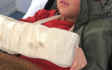 Dječak nakon ukazane pomoći
