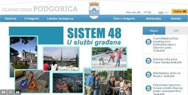 Sajt opštine Podgorica