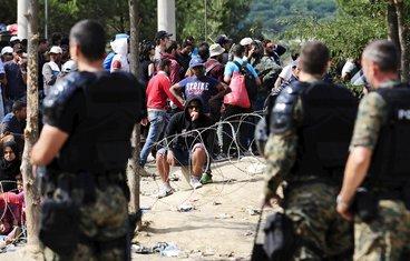 Makedonija policija imigranti