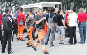 Crnagoraput, radnici protest