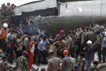 Indonezija, pad aviona