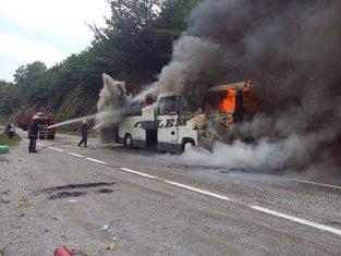 Autobus, požar