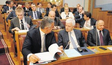Milo Đukanović, Vujica Lazović, Duško Marković