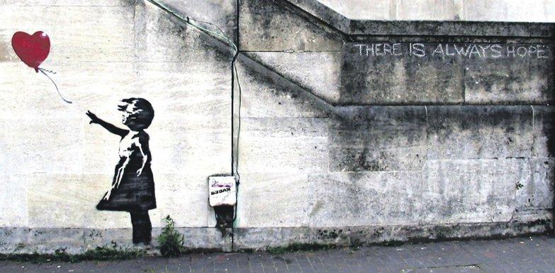 Djevojčica sa balonom, Banksy