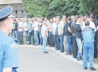Radnici Rudnika boksita, protest