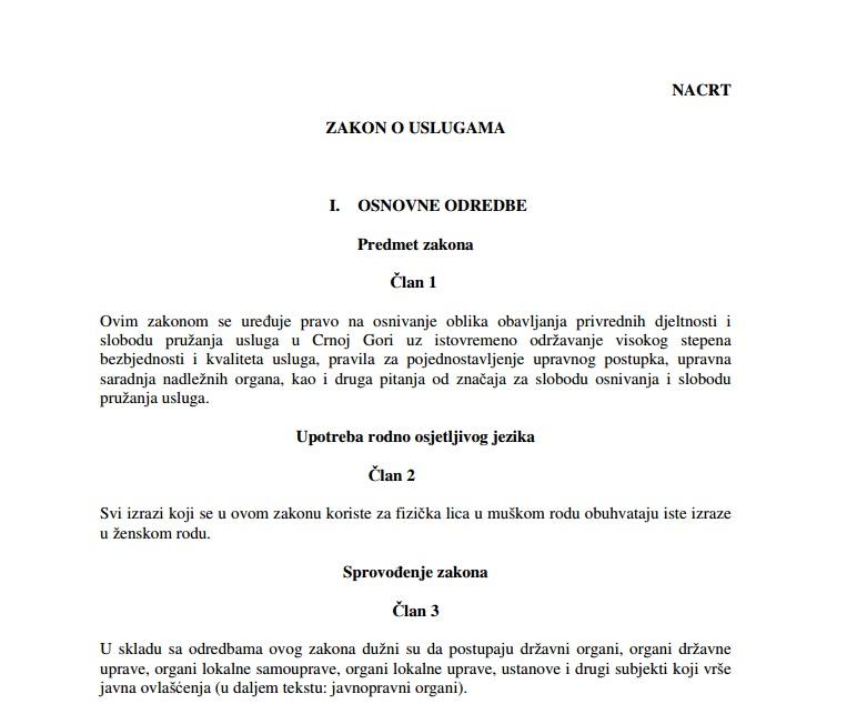 Zakon o uslugama