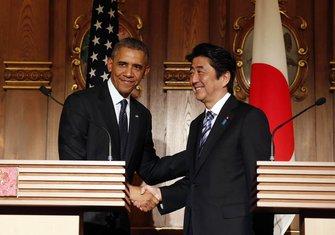 Barak Obama, Šinzo Abe